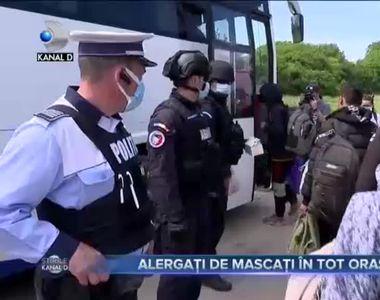 VIDEO - Peste 100 de migranți au fost alergați de polițiști la Timișoara