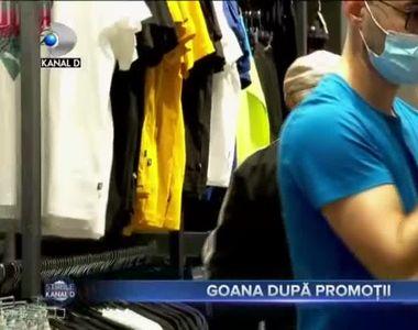 VIDEO - Buluc de oameni la deschiderea unui outlet de haine din Capitală