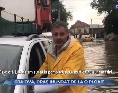VIDEO -Asfalt surpat în Craiova după ploi și vijelii de cod portocaliu
