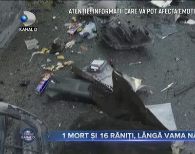 VIDEO - Accident - un mort, un copil de 8 ani rănit și alți 15 oameni la spital