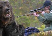 VIDEO - Urșii periculoși, împușcați cu aprobări pe repede înainte de la minister