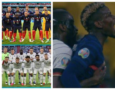 Momentul în care Pogba e mușcat de spate în timpul meciului Franța-Germania de la Euro...