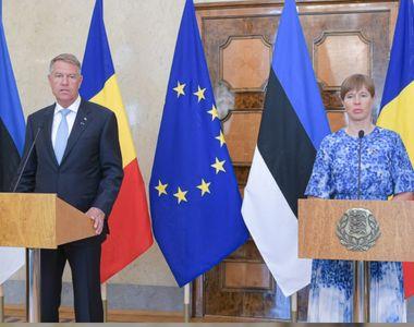 """Președintele Iohannis: """"Estonia este cu mult înaintea noastră în ce priveşte sisteme de..."""