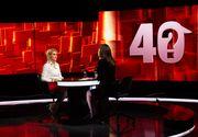 """Gabriela Firea, la """"40 de întrebări cu Denise Rifai""""  """"V-a amenințat Liviu Dragnea cu moartea?"""", una dintre întrebările de foc ale emisiunii"""