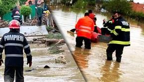 VIDEO -Cod portocaliu de ploi și inundații în patru județe din România