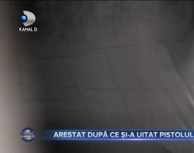 Arestat după ce și-a uitat pistolul în mall