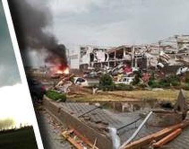 VIDEO  Spulberați de o tornadă apocaliptică