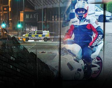 VIDEO - Un motociclist român a fost spulberat în Anglia de către o mașină. Iubita sa...