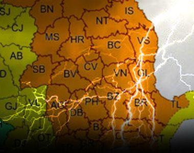 VIDEO | Cod portocaliu de ploi torențiale și grindină. Care sunt cele mai afectate zone
