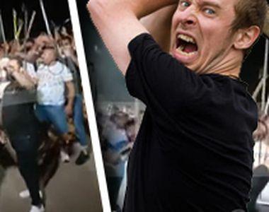 VIDEO |  Petrecere cu săbii, topoare și furci, în București, dată în cinstea unui temut...