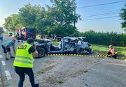 VIDEO    Accident cumplit în Botoșani. Trei tineri au intrat cu un bolid direct în copac, doi dintre ei au murit