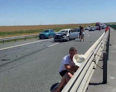 Un alt accident pe A2, cu 11 victime. S-a produs tot la Medgidia, dar pe sensul opus