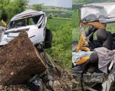 Accident dezastruos în Dâmbovița. La volanul mașinii se afla o tânără de 18 ani care a...