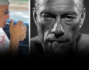 VIDEO - Scene nemaivăzute cu Van Damme. Actorul fumează și ascultă manele alături de...