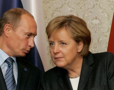 Angela Merkel  și Vladimir Putin au avut discuții despre  un proiect controversat