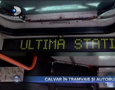 Calvar în tramvaie și autobuze