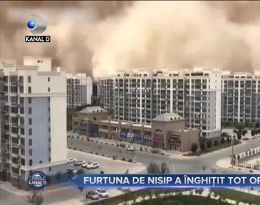 Furtuna de nisip a înghițit tot orașul
