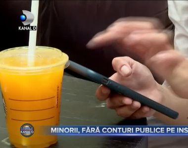 Minorii - fără conturi publice pe Instagram