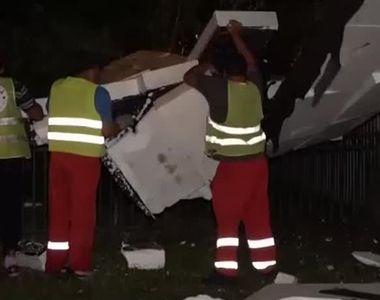 VIDEO   Pagube uriaşe după furtuna din Capitală