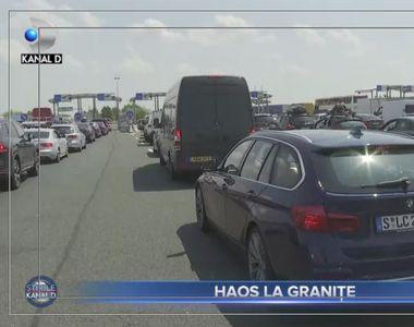 VIDEO - Haos la granițe. Infern pentru românii care revin în țară