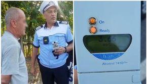 VIDEO - Șofer prins cu alcoolemie record, peste pragul de comă alcoolică