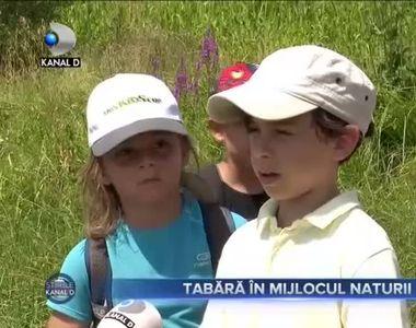 Tabara in mijlocul naturii
