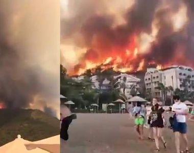 Ce se întâmplă cu turiștii din Antalya?! Incendiile devastatoare de vegetație au făcut...