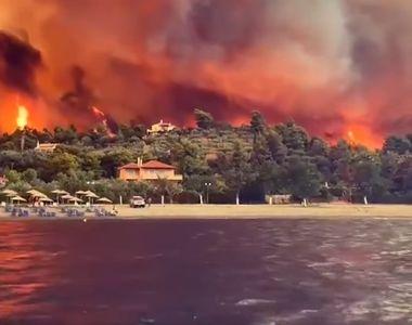 Imagini apocaliptice din Grecia. Incendiile devastatoare continuă cu 55 de focare active
