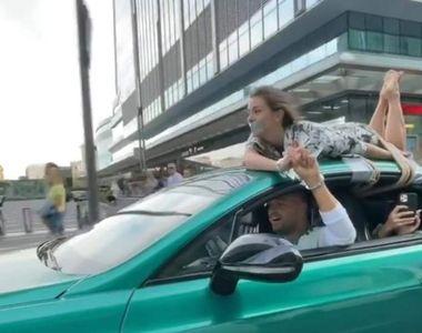 VIDEO| Un renumit influencer și-a legat concubina cu frânghia de plafonul maşinii. El...