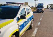 Accident rutier în care este implicată o mașină de Poliție. A lovit un autocamion care circula regulamentar