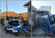 Un TIR a spulberat o mașină de jandarmi și una de poliție