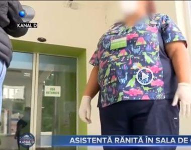 VIDEO   Asistentă rănită în sala de operații