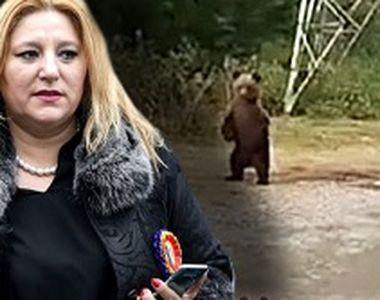 VIDEO | Diana Șoșoacă, gest teribilist cu urșii pe Transfăgărășan