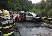 Accident cu 13 victime pe DN 15: O mașină și un microbuz s-au ciocnit iar traficul din zonă este blocat