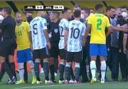 VIDEO | Scene ireale pe terenul de fotbal. Messi şi coechipierii săi au fost nevoiţi să se retragă la vestiare după doar câteva minute de la începerea meciului pe care naţionala Argentinei îl susţinea împotriva Braziliei