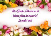 Felicitări mesaje şi urări de Sf. Maria: Imagini cu La mulţi ani, Maria, Marian şi Mariana!