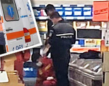 VIDEO | Situație fără precedent într-un magazin din Craiova. Un bătrân a murit în timp...