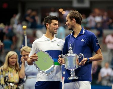 Daniil Medvedev a câştigat finala US Open, în faţa liderului mondial Novak Djokovic