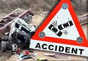 VIDEO | Accident tragic la Agigea: Un șofer a murit chiar de ziua lui de naștere, după ce s-a prăbușit cu TIR-ul, de la cinci metri înălțime
