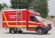 Accident în Dâmbovița. Două persoane au fost rănite în urma unui impact puternic între trei TIR-uri.