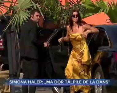 Simona Halep - Ma dor talpile de la dans