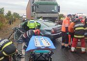 Accident grav la Dumbrăveni între un TIR şi trei maşini: O persoană a ajuns în stare gravă la spital