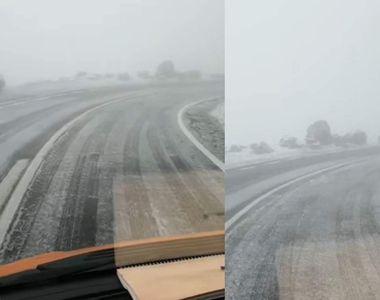 VIDEO| Vreme capricioasă în România. A nins, iar autoritățile au intervenit cu material...