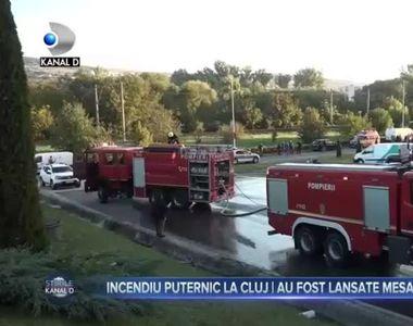 Incendiu puternic la Cluj-au fost lansate mesaje RO-ALERT