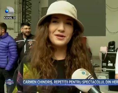 Carmen Chindriș, repetiții pentru spectacolul din Herăstrău