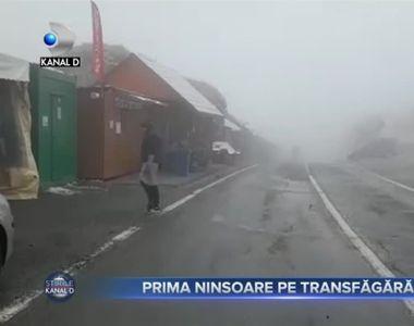 Prima ninsoare pe Transfagarasan