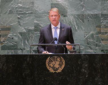 """Președintele Klaus Iohannis, discurs oficial la ONU: """"Conflictele prelungite din..."""