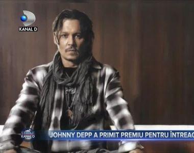 Johnny Depp a primit premiu pentru întreaga cariera