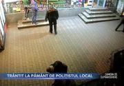 Trantit la pamant de politistul local