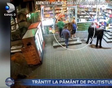 VIDEO | Trântit la pământ de polițistul local